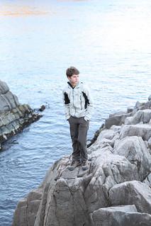 Paul takes in the ocean (Rikuzentakata, Japan)