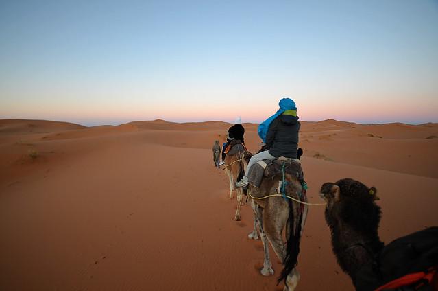 Amanecer en el desierto de Marruecos