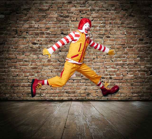 Ronald McDonald's new threads