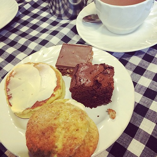 We had tea too - everything was so good! I also bought 2 massive brownies for 70p.