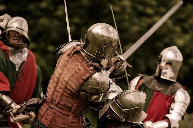 Think He Got The Point | Re-enactment of the Second Battle of St Albans. from Flickr via Wylio
