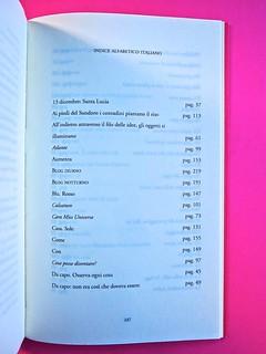 A Vinci, [...], di Morten Søndergaard. Del Vecchio edizioni 2013. Art direction, cover, logo: IFIX. Pagina dell'Indice, titoli italiani dei singoli componimenti: pag. 247 (part.), 1