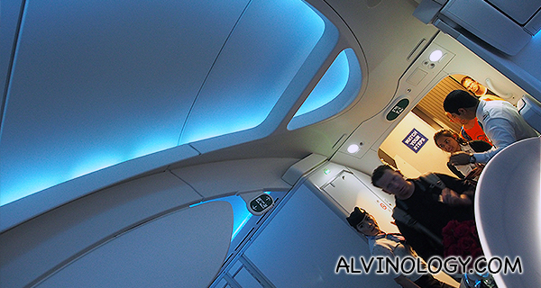 Look at how high the ceiling is compared to other aircrafts