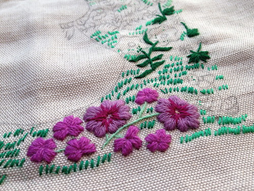 Vasilisa Crewel Embroidery In Progress