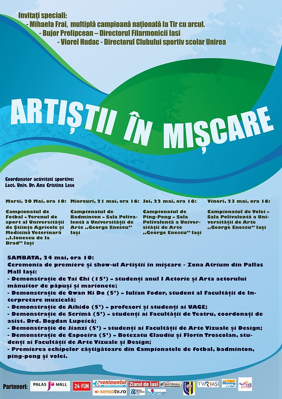 Afis Artistii in miscare