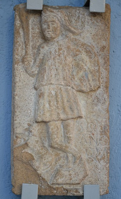 Votive relief to Cautes (CIMRM 1473-4), found in Sisak (Dalmatia), Archaeological Museum, Zagreb