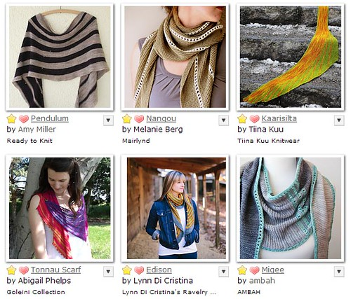 striped shawls and scarves