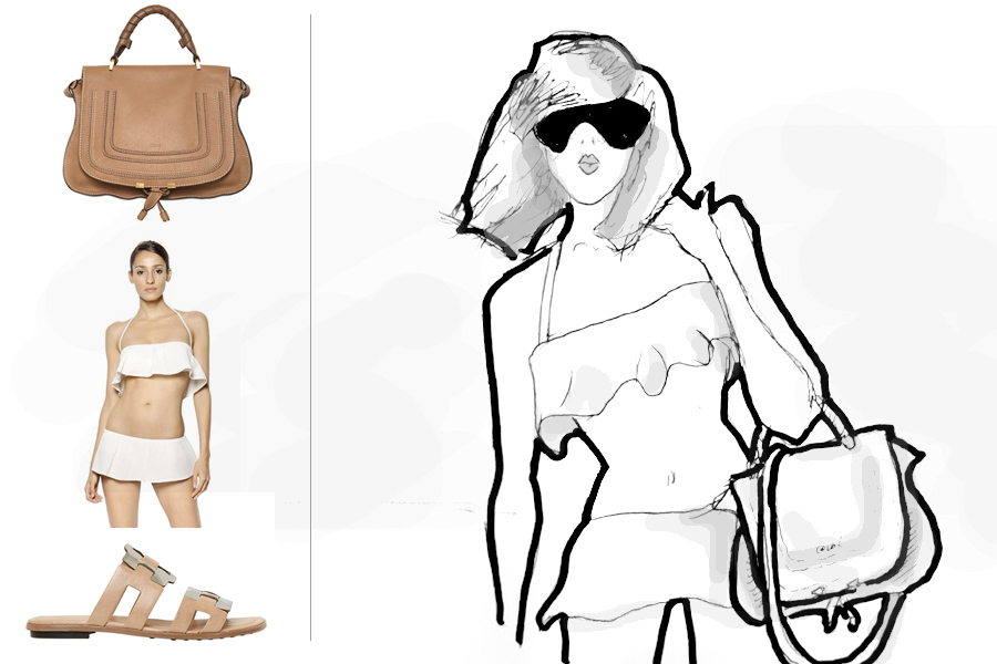 LUISAVIAROMA summer beach essentials LVR Luisa Firenze Italy Luxury designer illustration drawing CATS & DOGS fashion blog Berlin Ricarda Schernus 2