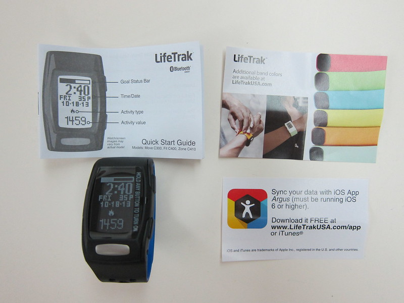LifeTrak Zone C410 - Box Contents
