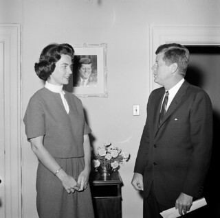 President John F. Kennedy with a Former White House Staff Member