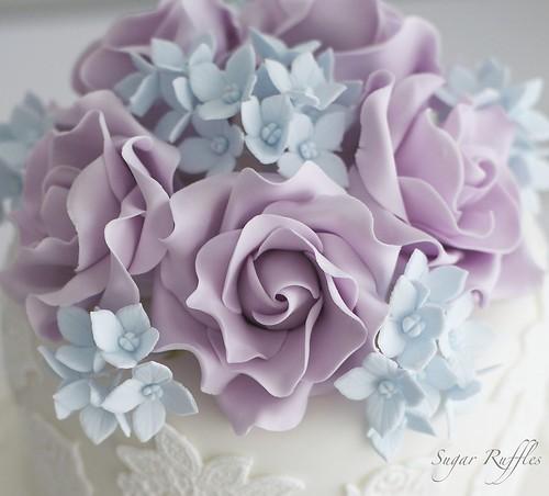 Pacific blue sugar flowers