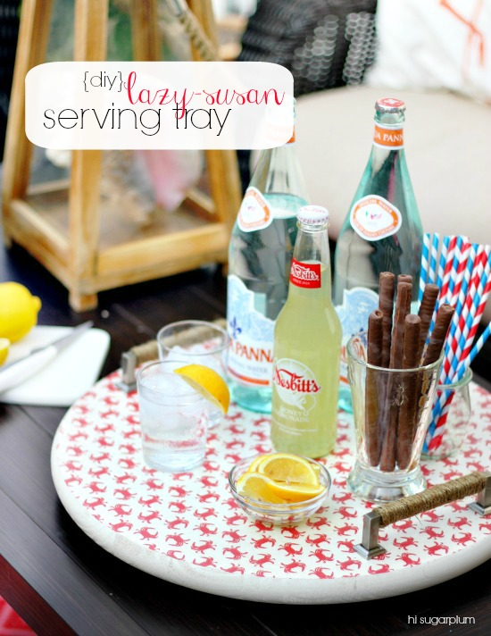 Hi Sugarplum | DIY Lazy Susan Serving Tray