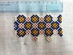 Brick stitch pouch, choosing width