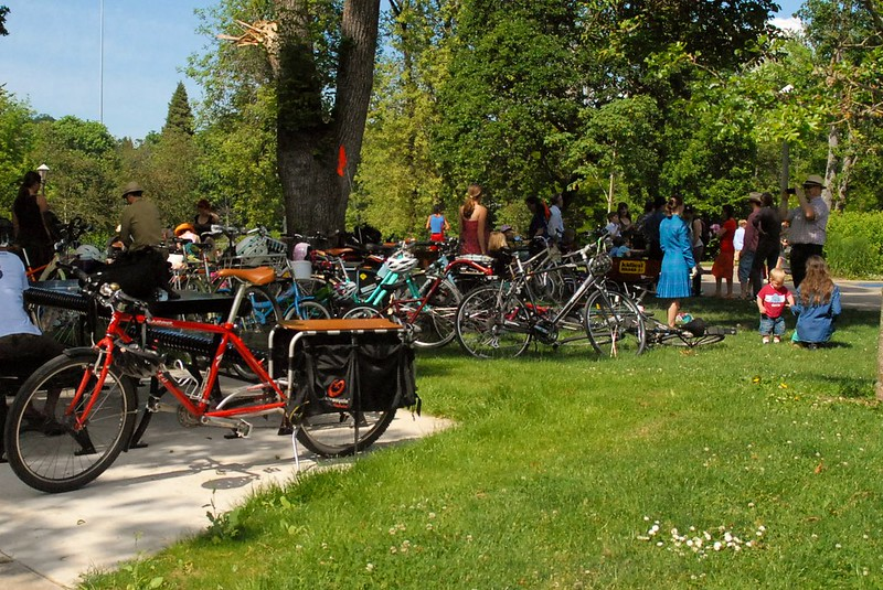 Bikes at Kidical Mass Ride