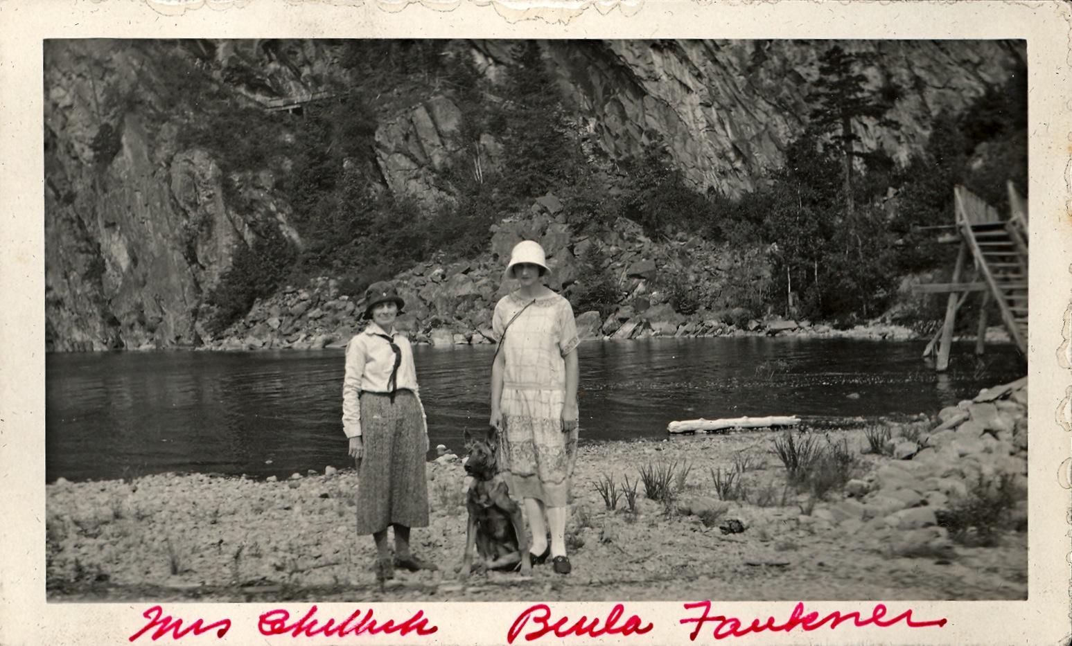 Mrs. Chittick & Beula Faukner at Bon Echo