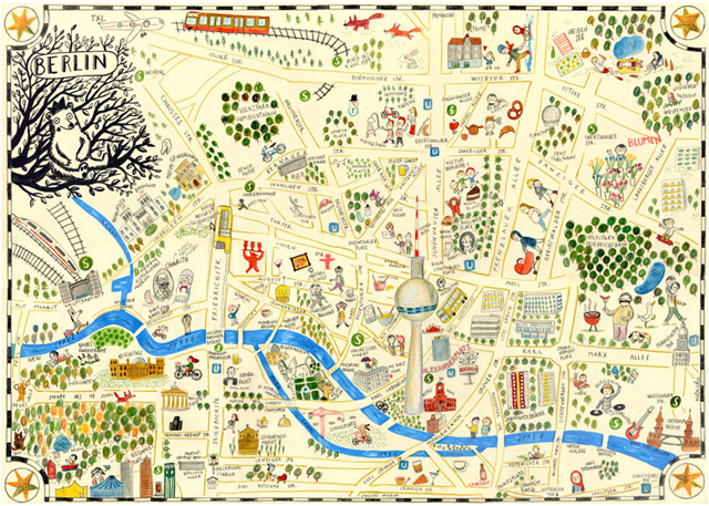 Berlin in a map