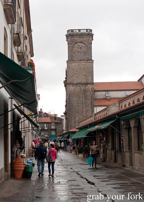 Mercado de Abastos farmers market in Santiago de Compostela, Spain