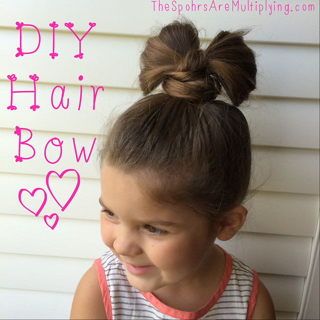 DIY Hair Bow (Of Hair!)