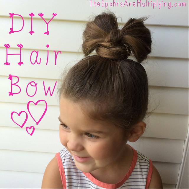 DIY Hair Bow (Of Hair!)