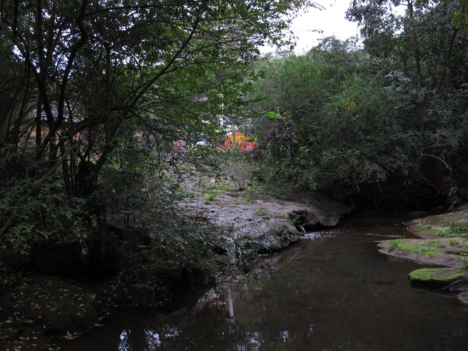 River to pillars