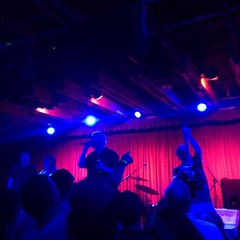Old guy mosh pit! Guided By Voices pretty much rocked The Crescent Ballroom tonight...