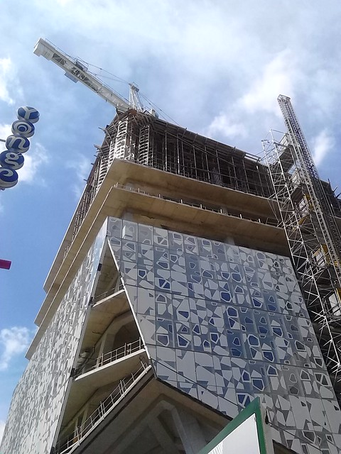 The Ryerson Student Learning Centre rising, May 2014