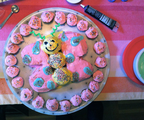 butterfly cake by mama/grammy/ada