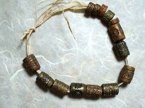 Etruscan beads, all