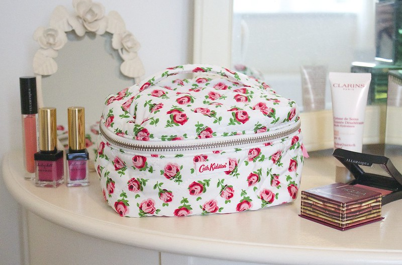 Cath Kidston Button Rose Quilted Vanity Bag Milly Naomi