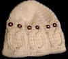 Adult Size Owl Hat - Cream