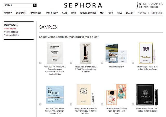 65daigou usa shopping sephora free samples