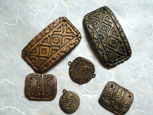 Etruscan pendants, all