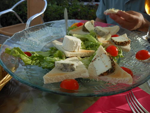 Local Troo speciality: goat cheese!