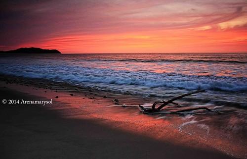 sunset beach clouds playa cielo mexique messico arenamarysol litiburivieranayaritmexico longexposurelitibu atardecerenlitibu