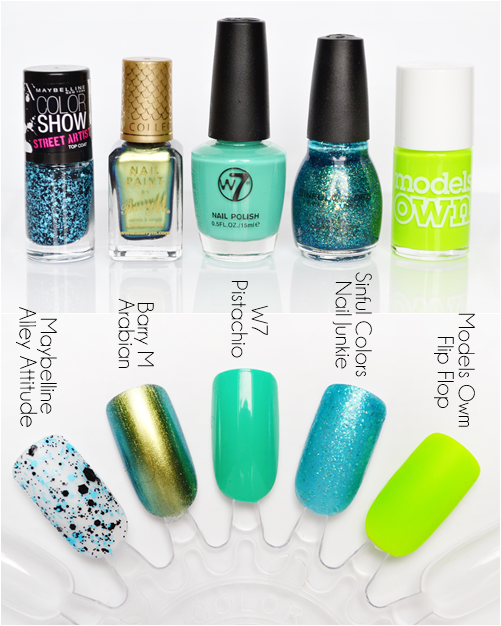 Green_nail_polishes