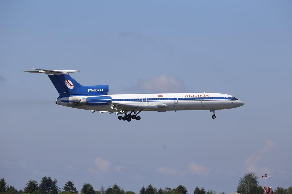 Tupolev Tu-154M Belavia Belarusian Airlines (reg. EW-85741) in Warsaw