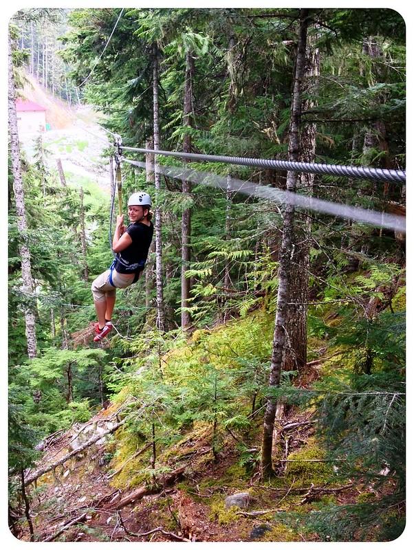 dani ziplining in whistler canada
