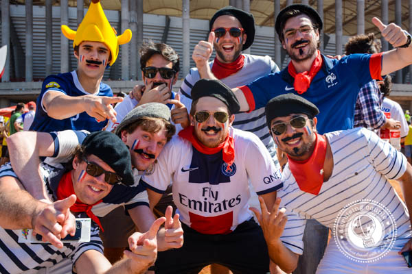 French Cheering for the World Cup