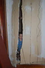 Look mama - there's a hole in the wall!