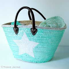 DIY star painted basket