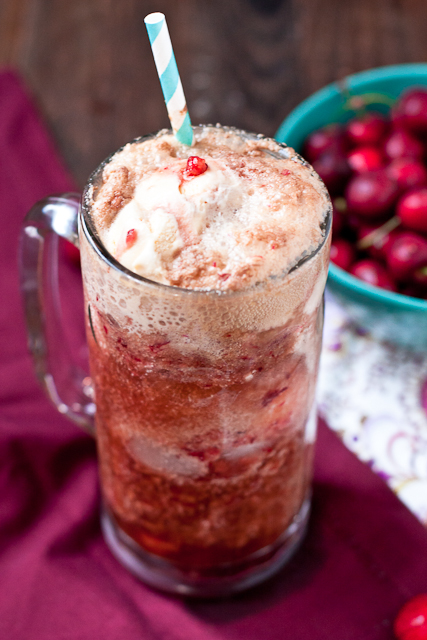 Fresh Cherry Coke Float Recipe