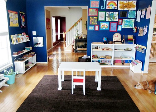 Montessori Homeschool Classroom (Photo from Imagine Our Life)