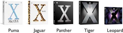 Mac OS X的5个版本