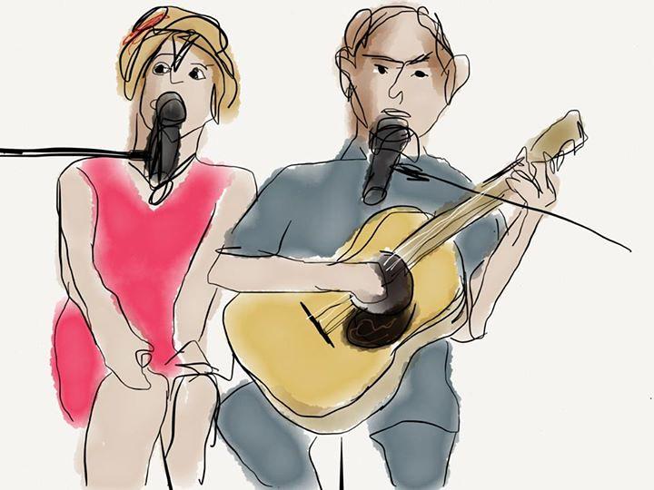 Joop en Jessica, op 50 jarig huwelijksfeest van Jaap Keller en Erica Keller. Made on iPad with paper