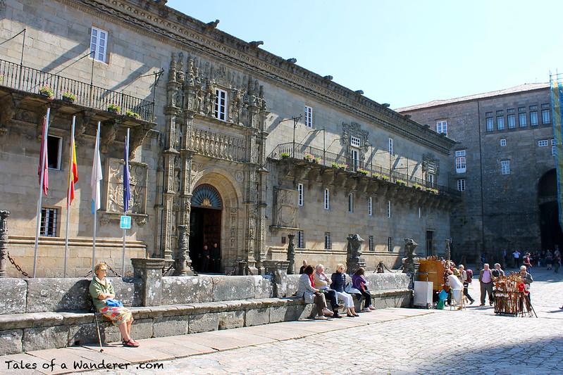 SANTIAGO DE COMPOSTELA - Praza do Obradoiro - Hospital Real