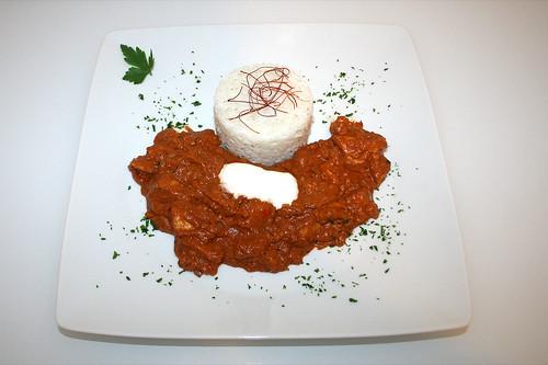59 - Murgh Makhani - Indisches Butterhuhn - Serviert / Indian butter chicken - Served