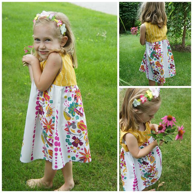 Flower Pond Dress Details