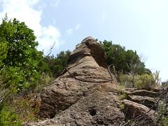 Les spires de câbles autour du piton rocheux côté Carciara