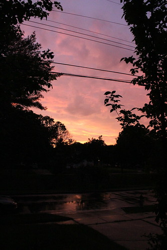 pink sunset sky storm color colour weather silhouette yellow clouds canon evening skies shadows purple afterthestorm vibrant vivid maryland lightorange canont3i blendofcolour