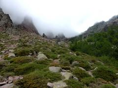 Montée à Bocca di Guagnarola : la pente de la montée au col